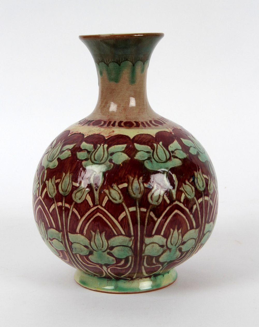 James miles della robbia birkenhead arts and crafts vase for Arts and crafts vases pottery