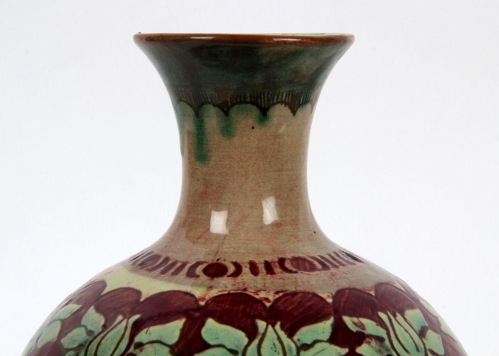 James Miles Della Robbia Birkenhead Arts And Crafts Vase Circa