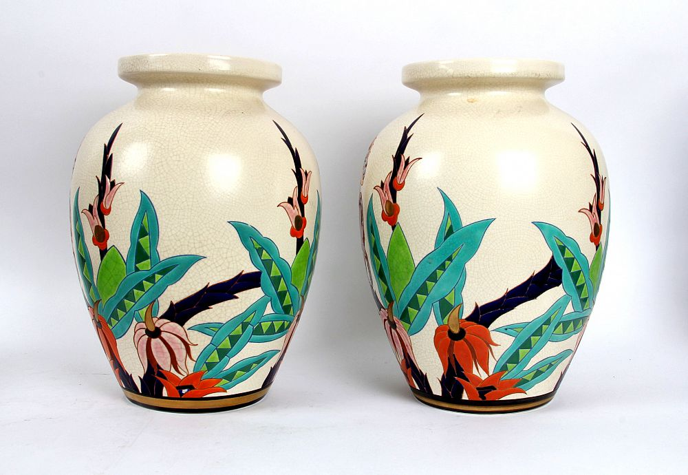 Fabuleux James Miles: Orchies French Faience Art Deco 'Monkey' Vases, £650 CM75