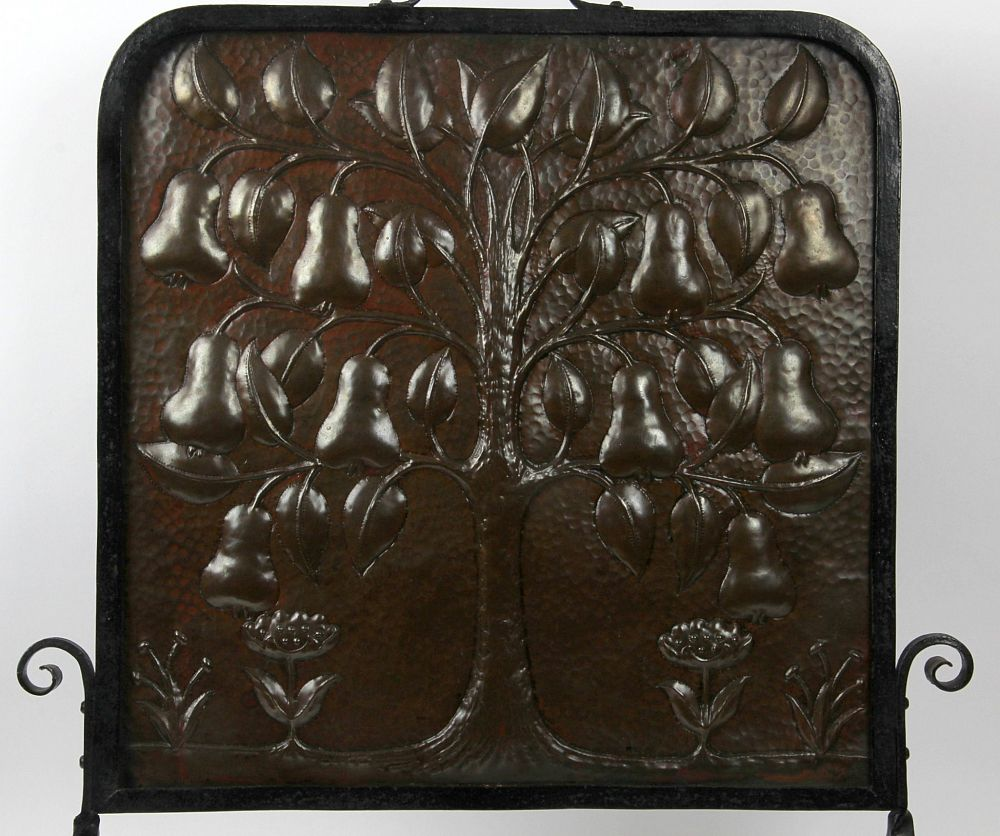 James Miles John Pearson arts and crafts copper tree of