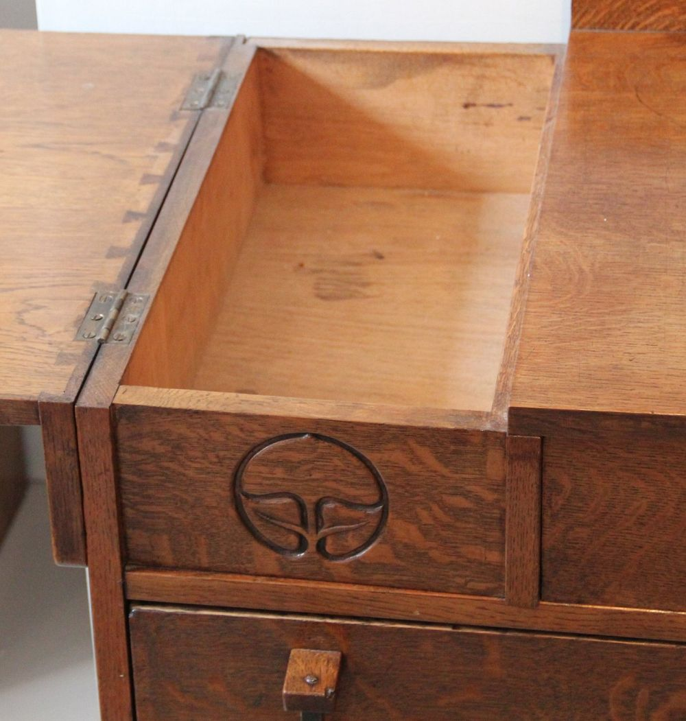 James Miles Oak Arts And Crafts Chest Of Drawers