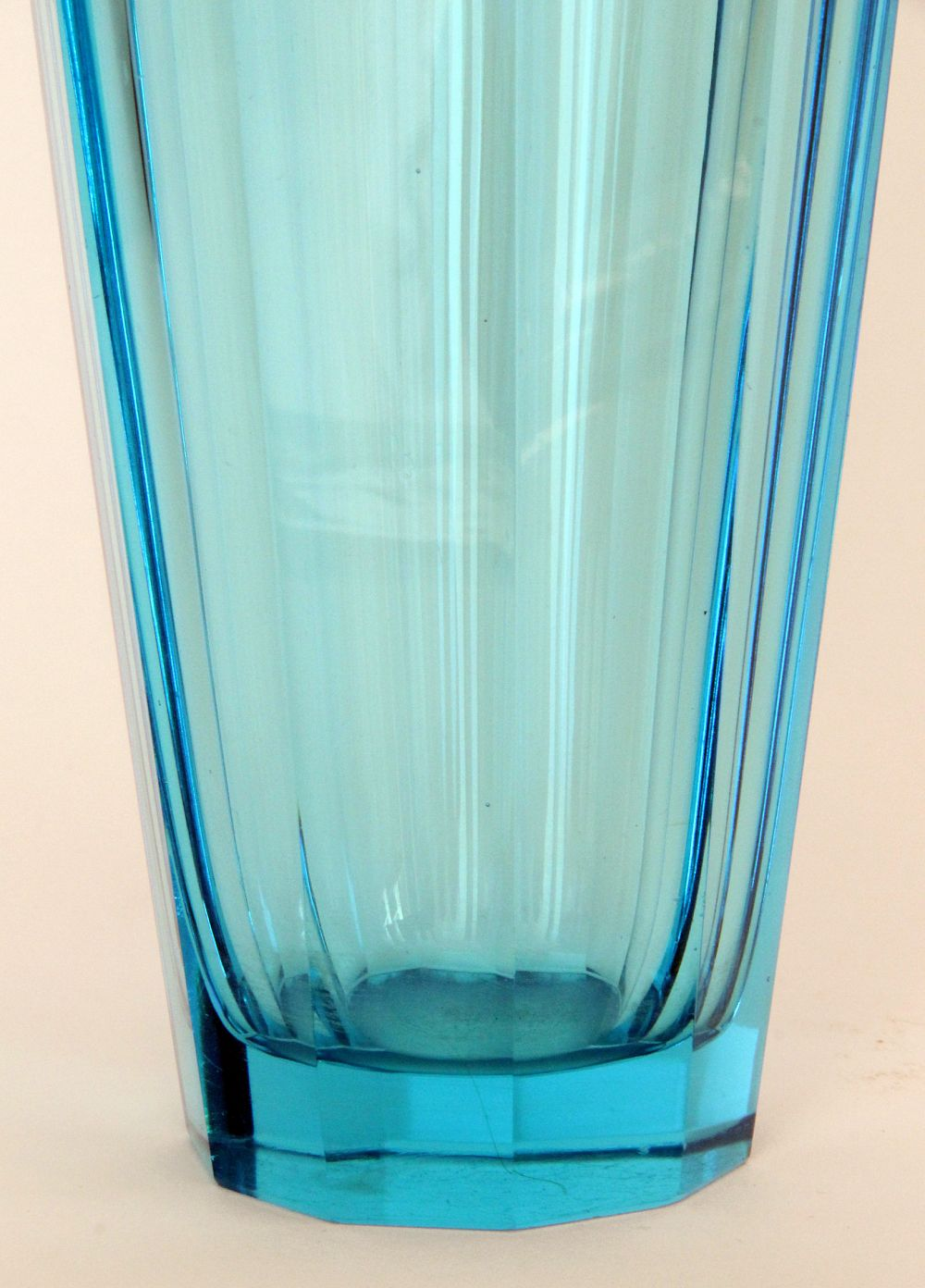 cut vintage clear vase bohemian czech c jpg glass blue to