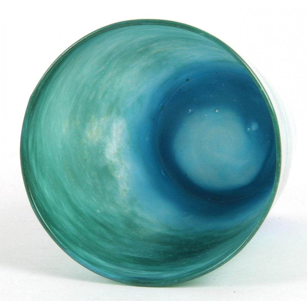 James Miles: Whitefriars Green And Blue Cloudy Glass
